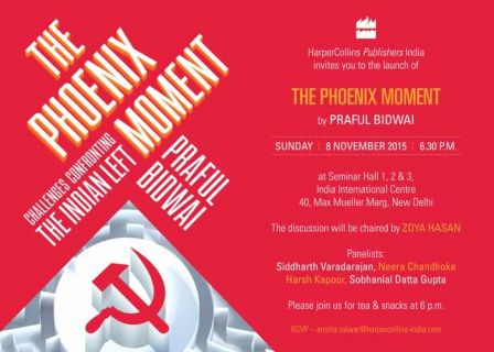 Invitation to Delhi Book Release for Pheonix Moment